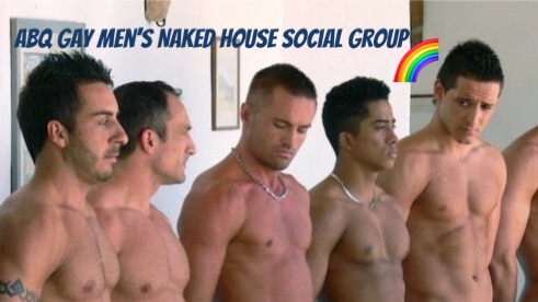 Nude mens pool party