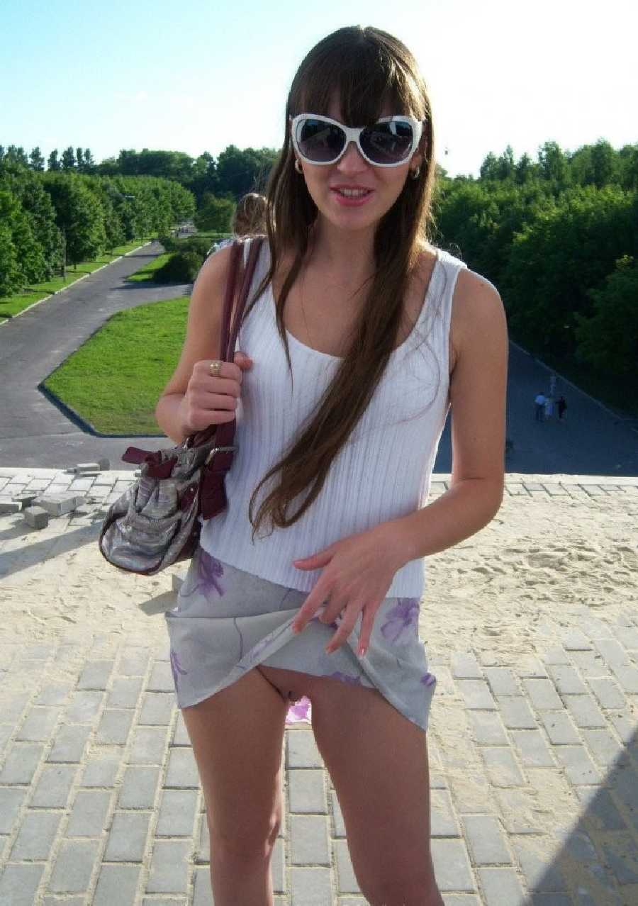 Naked teen in public pussy