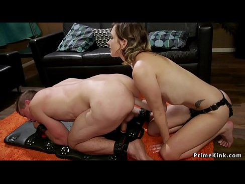 Stuffing his cock in his own ass