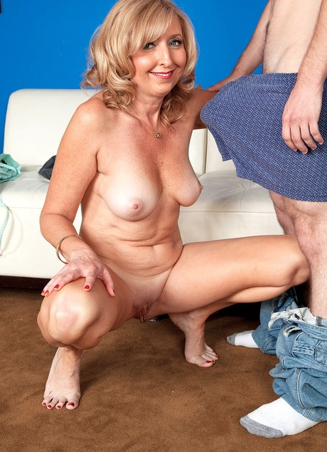 Matures taking young cocks