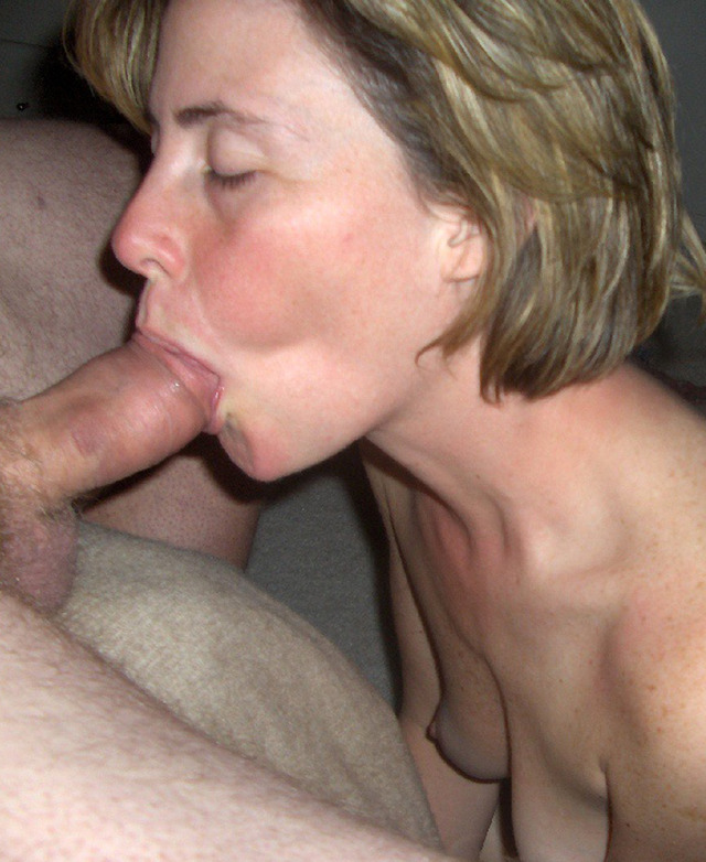 Real mature wife sucking cock