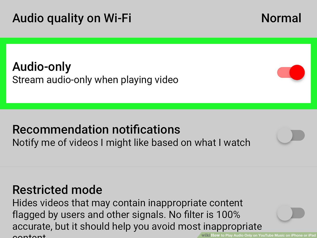 Watch youtube audio only